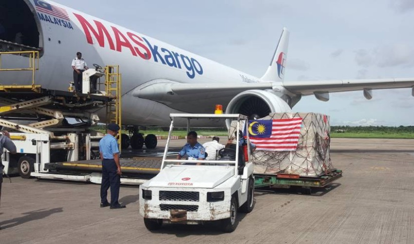 MAB Kargo delivers third relief flight with 50 tonnes of aid for Rohingya refugees
