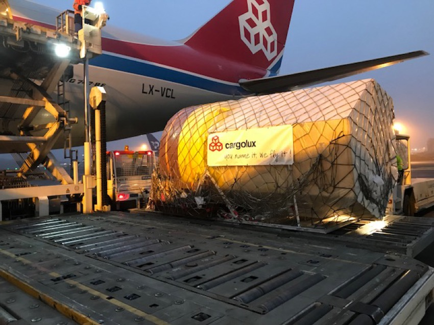 Cargolux carries hi-tech buoys for offshore wind farms to China