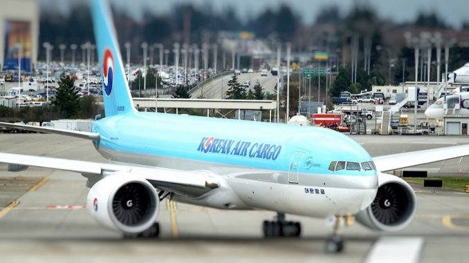 korean air cargo B777F