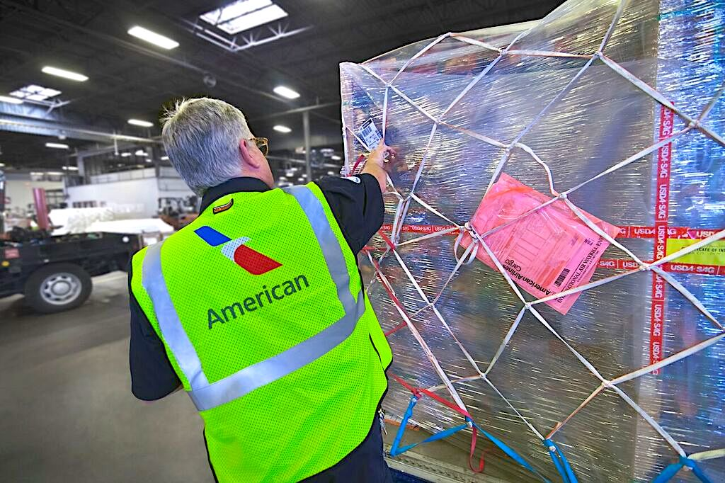Pharma, fruit and flowers help American Airlines Cargo set records