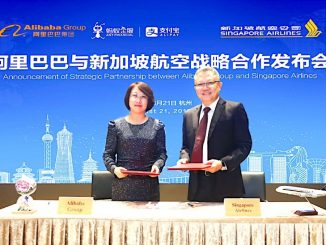 Singapore Airlines (SIA) and China's Alibaba Group