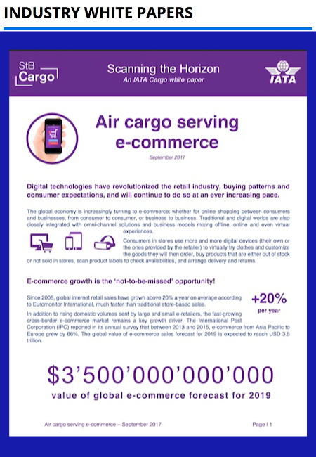 IATA - Air cargo serving e-commerce