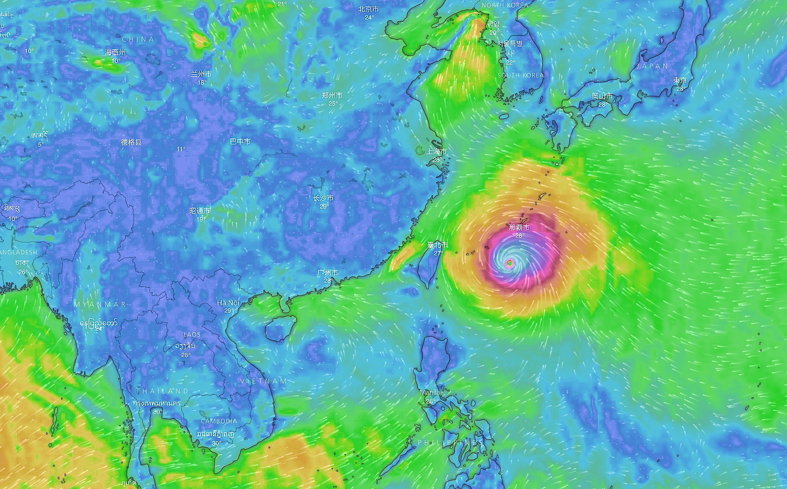 Super Typhoon Maria heads towards Taiwan, southern Japanese islands