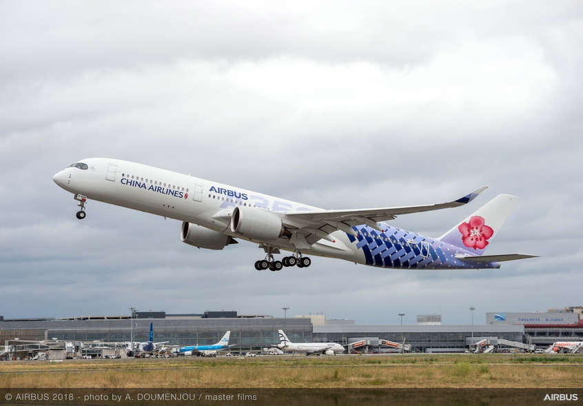China Airlines takes delivery of final A350-900 in a special joint livery