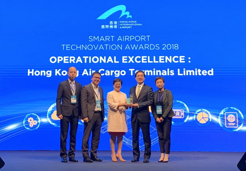 Hactl wins HKIA Technovation award for 'Smart Cargo Locating'