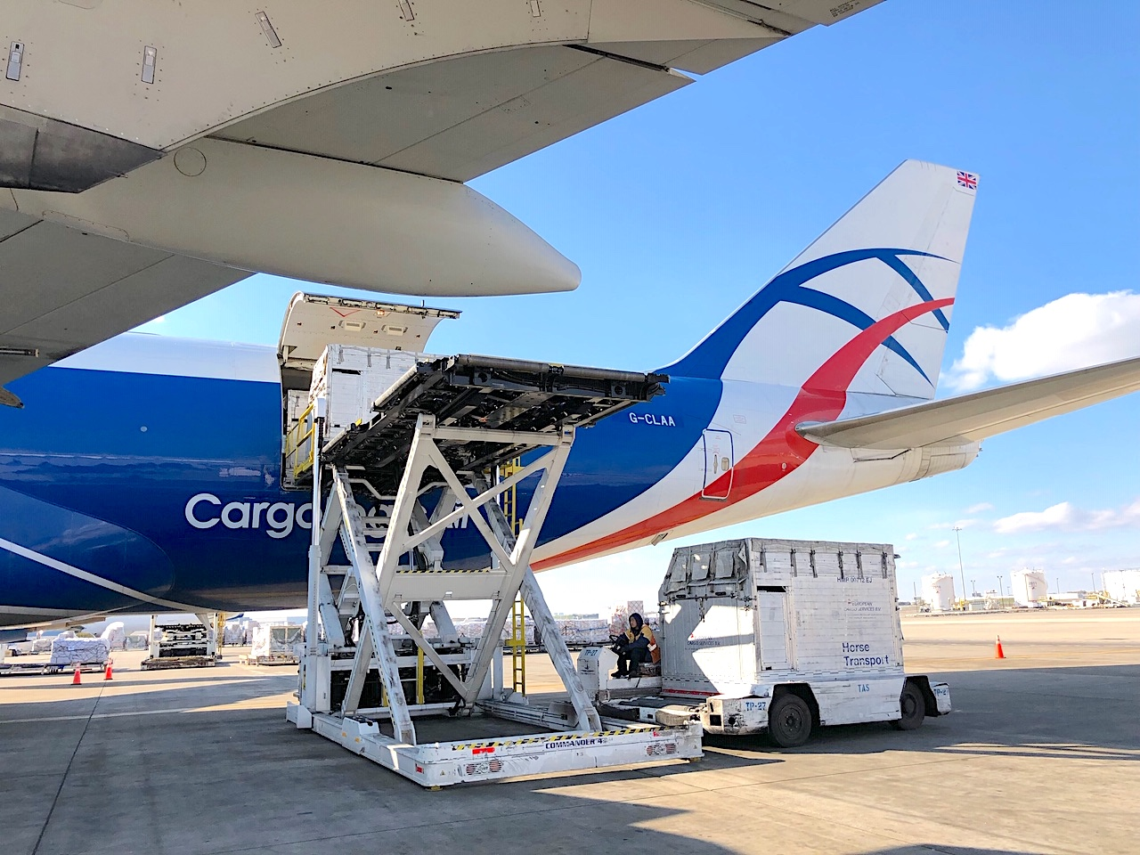 No hurdles for CargoLogicAir in transporting thoroughbreds from US to Europe