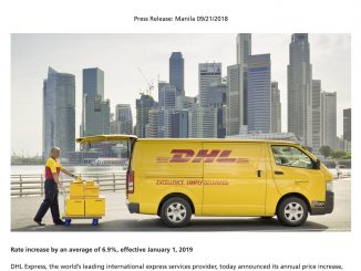 DHL price adjustment