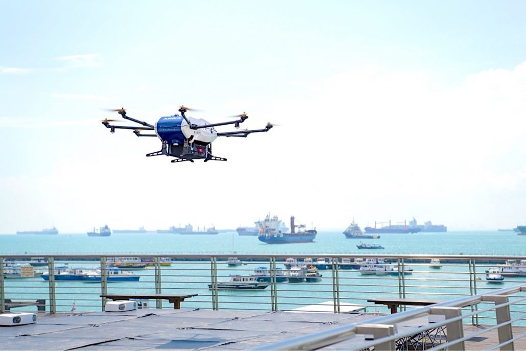 Airbus' Skyways drone trials first shore-to-ship deliveries in Singapore
