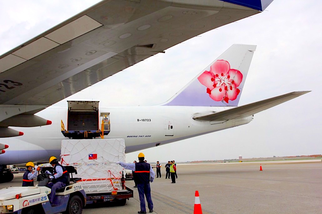 China Airlines transports Formosat-7 satellite to US