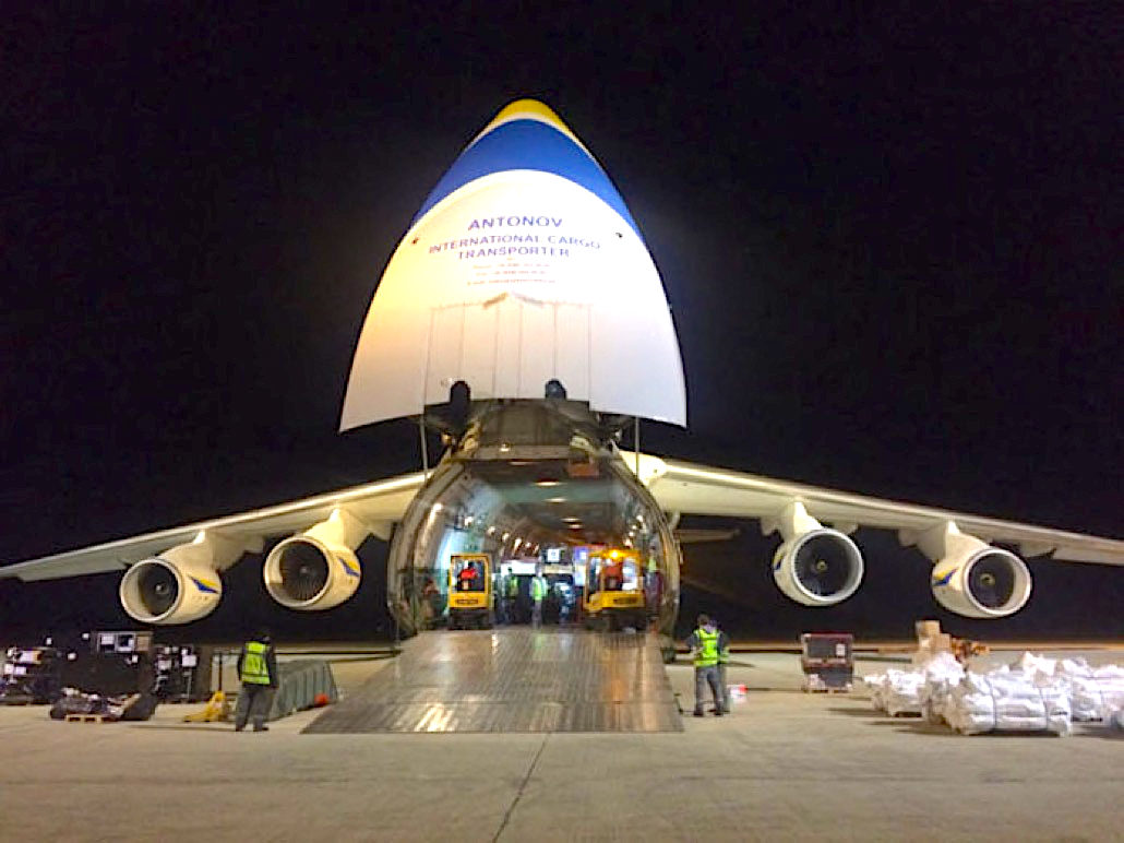 ANTONOV Airlines works with Bolloré on Mozambique relief