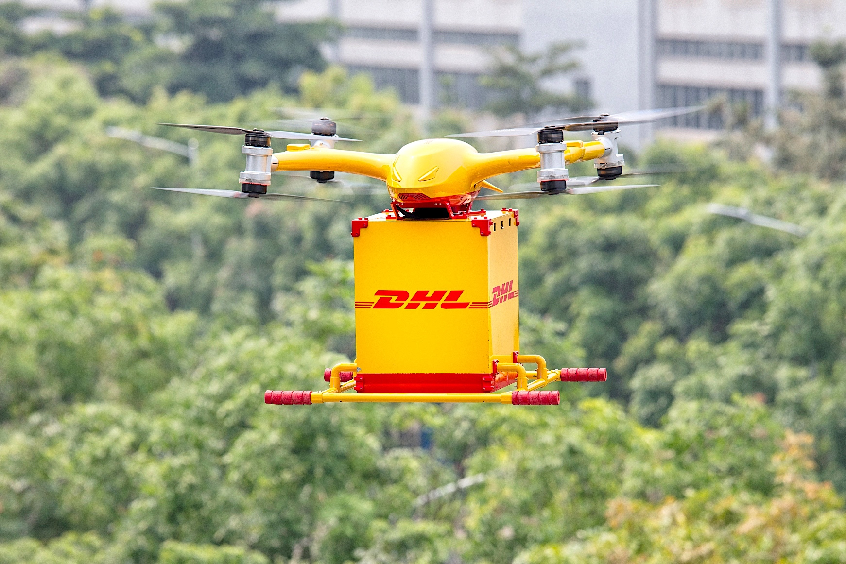 DHL Express, EHang launch first urban drone service