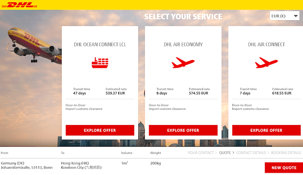DHL Global Forwarding unveils online booking service