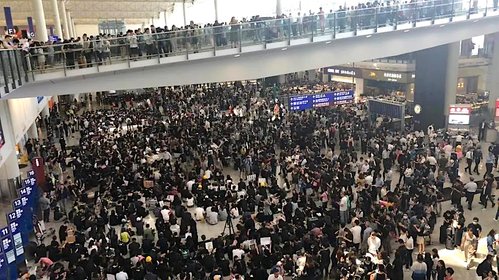 BREAKING NEWS: Hong Kong International Airport site of latest protest