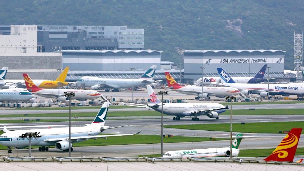 Hong Kong airport continues to suffer trade war fall-out