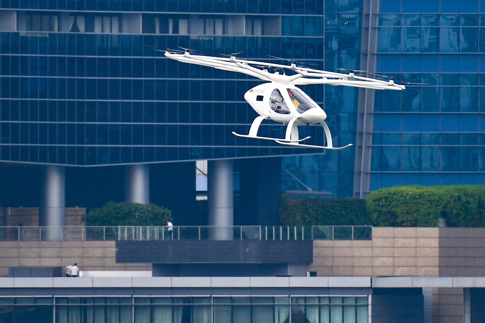 Volocopter takes to the air over downtown Singapore