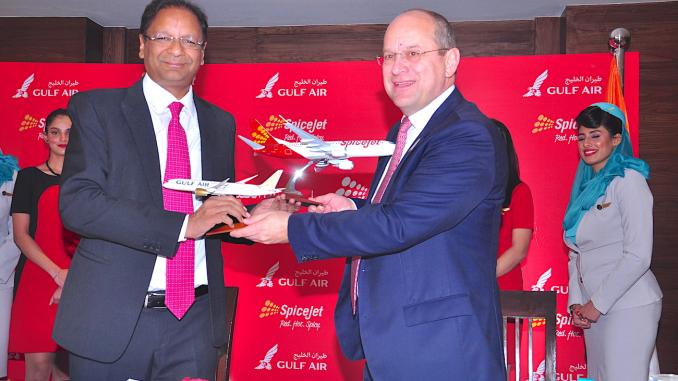 SpiceJet and Gulf Air