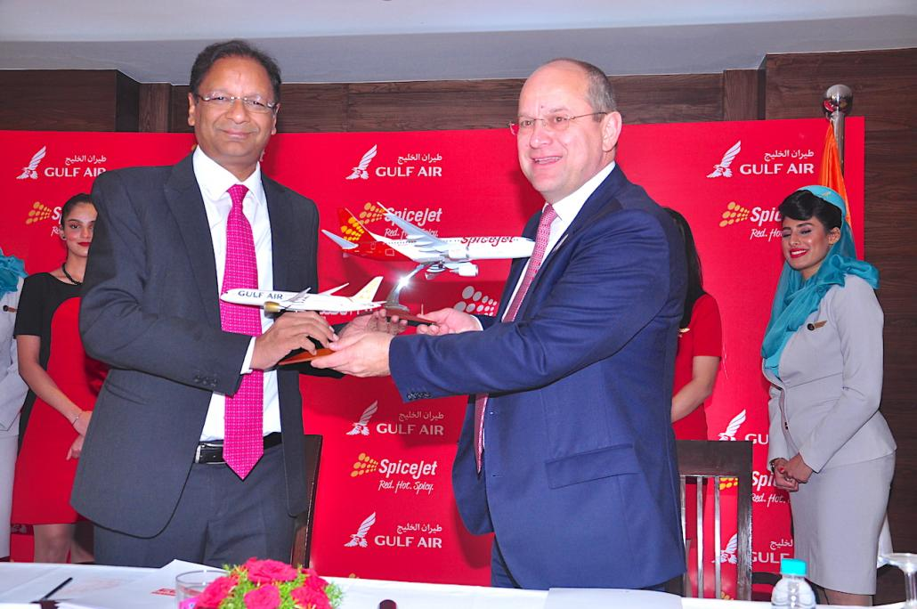 SpiceJet and Gulf Air sign MoU on cargo services