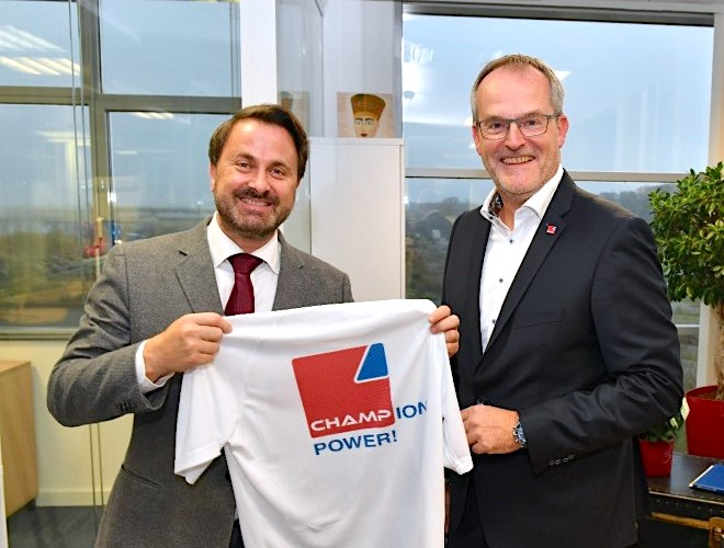Luxembourg PM visits CHAMP HQ marking 15th anniversary