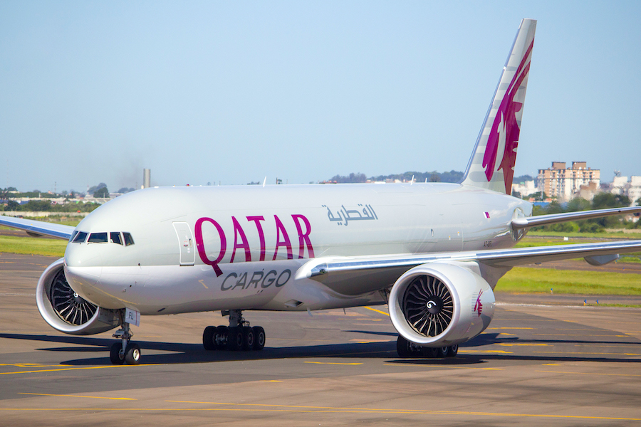 Kansai Int'l Airport welcomes Qatar Cargo to Japan