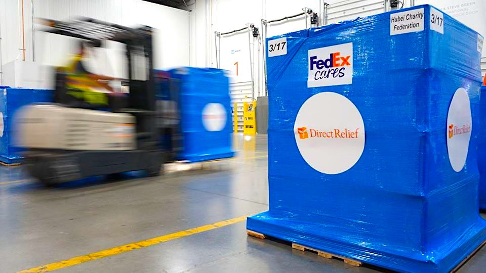 FedEx aids in transport of urgent coronavirus supplies