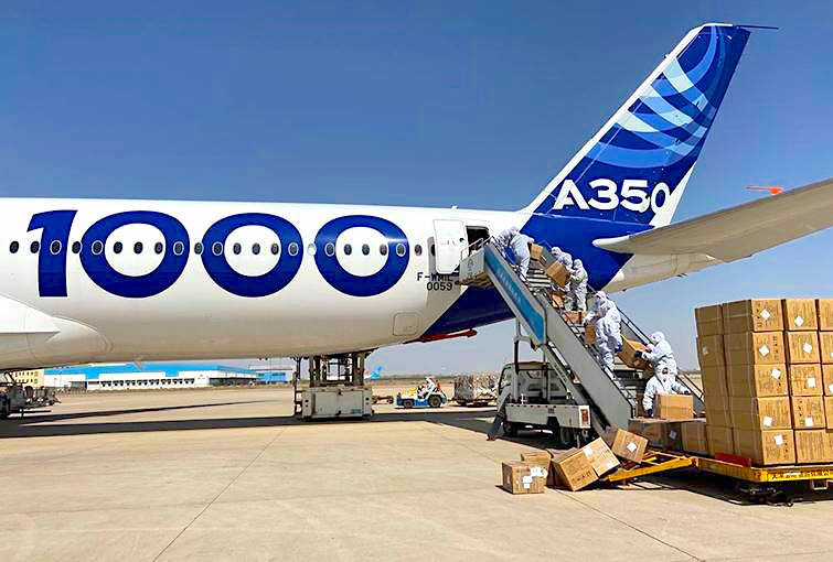 Airbus continues uplift of medical supplies from China to Europe