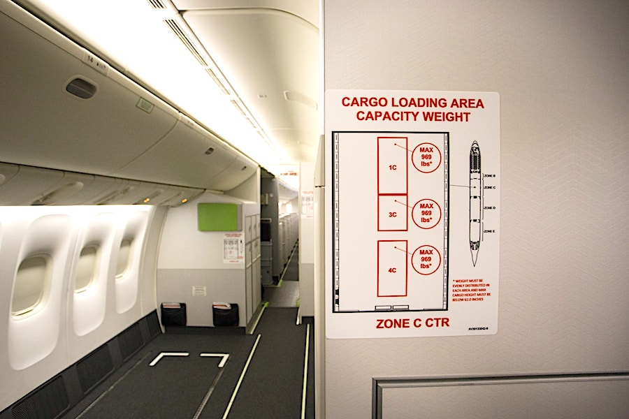air canada cabin recconfiguration