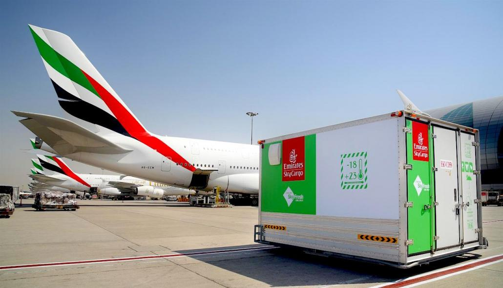 Emirates maintaining UAE food supplies, supporting global producers