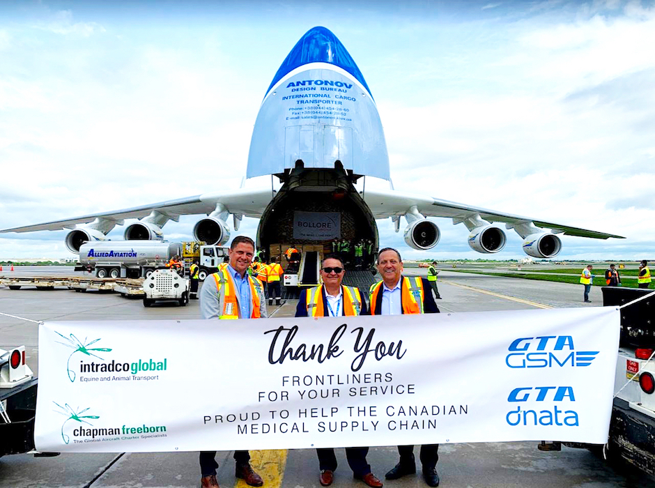 Intradco Global charters AN-225 for Covid-19 PPE