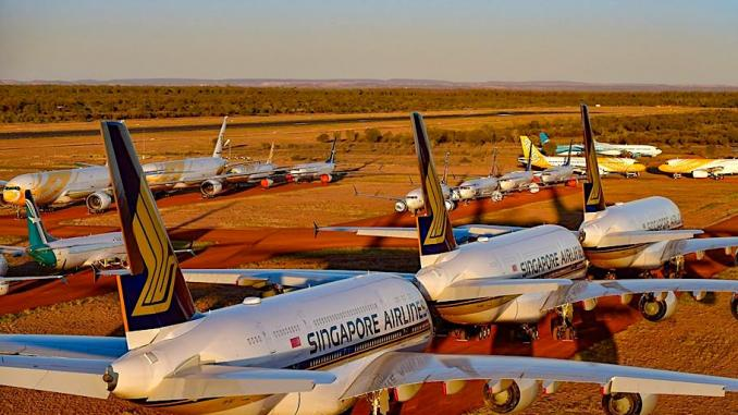 sia aircraft parked